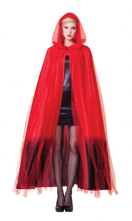 Adults Hooded Cape Costume Superhero Villian Super Hero Fancy Dress Outfit
